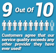 service quality exceeds other providers