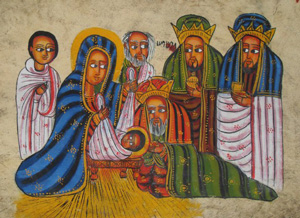Ethiopian Nativity Scene